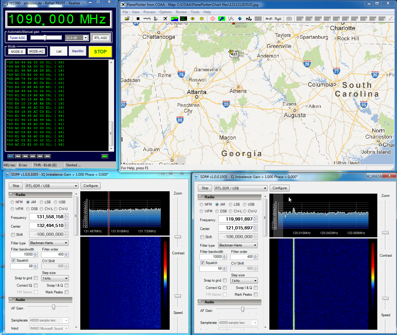 Adding ADS-B, ACARS, and ATC Audio to PlanePlotter Using Multiple