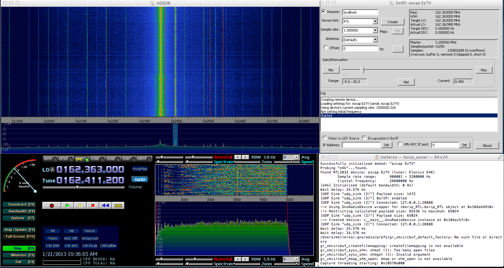 Using the RTL2832U on the Macintosh | Ham Radio Science