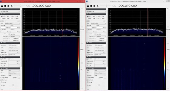 ADSB R820T2 -  Left R820T    -  Right Click for larger image